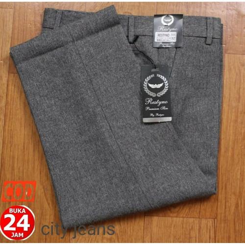 Foto Produk Celana Kantor Pria Formal Pria Wanita Slimfit Bahan Kain Woll Hitam - Abu Muda, 27 dari Mickonova Store