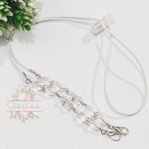 Foto Produk strap masker 2in1 konektor tali serut - clear dari salsabil handmade