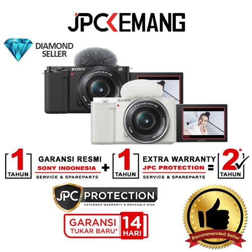 Foto Produk Sony ZV E10 Kit 16-50mm Sony ZVE10 ZVE 10 Kit 16-50 GARANSI RESMI - Black dari JPCKemang