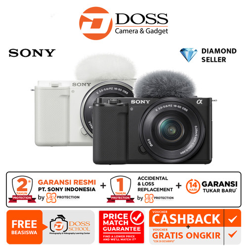 Foto Produk Sony ZV E10 Sony ZVE10 Mirrorless Camera Kit 16-50mm dari DOSS