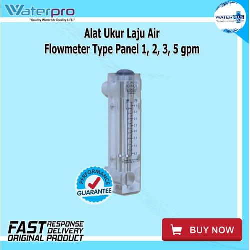 Foto Produk Alat Ukur Laju Air   Flowmeter Type Panel 1, 2, 3, 5 gpm dari WaterplusPure