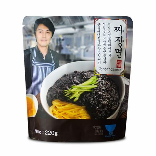 Foto Produk Jajangmyeon / Jjangmyeon / Jjajangmyeon Halal Noodle / Mie Korea 220gr dari Bliss Kitchen Jaksel
