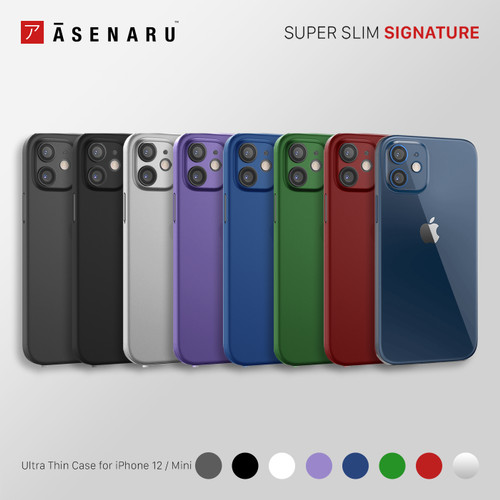 Foto Produk Asenaru iPhone 12/Mini Case Super Slim Signature Casing - Merah,iPhone 12 Mini dari Asenaru Official Store