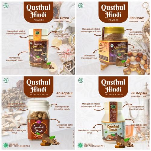 Foto Produk Qusthul Hindi Qist Al hindi Qustul Hindy Kustul 100gr / Obat Paru-Paru - Kapsul isi 45 dari Abu Khansa Herbal