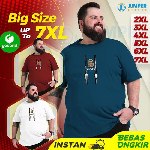 Foto Produk Baju Kaos Oversize Jumbo Pria Locked T Shirt Distro Big Size Dewasa - ITB, 2XL dari jumper distro