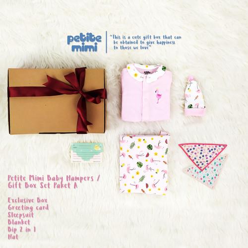 Foto Produk Petite Mimi Baby Hampers - Gift Box kado Parcel Bayi - Baju - SNI - Paket A - Girl dari Petite Mimi Official