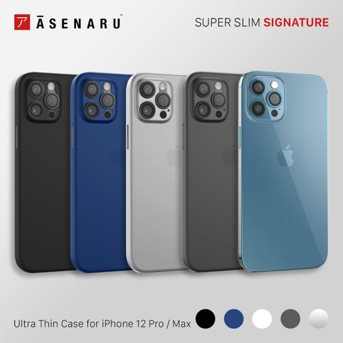 Foto Produk Asenaru iPhone 12 Pro/Max Case Super Slim Signature Casing - Biru,12 Pro Max dari Asenaru Official Store