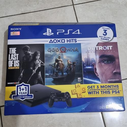 Foto Produk Jual PS4 500GB 2nd jrg main incl 3 game fisik GOW, Detroit, RDR2 dari IndoWebstorecom
