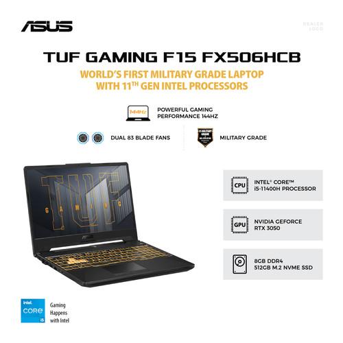 Foto Produk ASUS TUF GAMING F15 FX506HCB-I535B6G O [i5 11400H 8GB 512GB RTX3050] dari ROG Store SUB