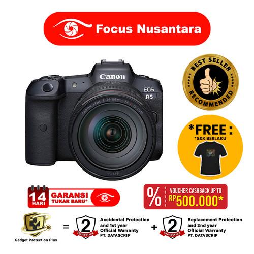 Foto Produk CANON EOS R5 Kit RF 24-105mm f4 L IS USM dari Focus Nusantara