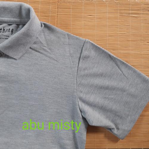 Foto Produk kaos polo shirt polos / kaos kerah / kaos polo - S, Abu misty muda dari Kerry Onlineshop