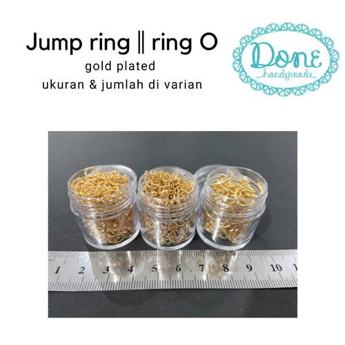 Foto Produk jump ring gold ring emas charm craft perhiasan - 0,4cm min 490bh dari done handymade