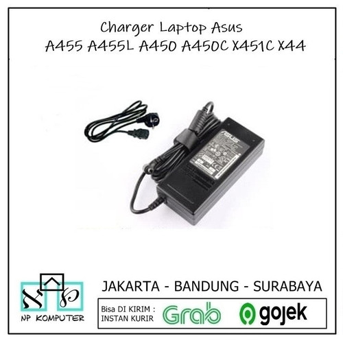 Foto Produk Charger Laptop Asus A455 A455L A450 A450C X451C X44 dari np komputer