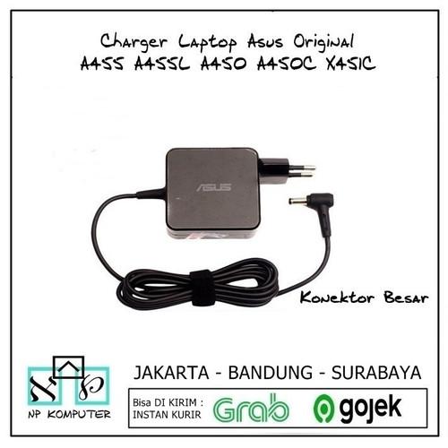 Foto Produk Charger Laptop Asus Original A455 A455L A450 A450C X451C - 19V 3,42A dari np komputer