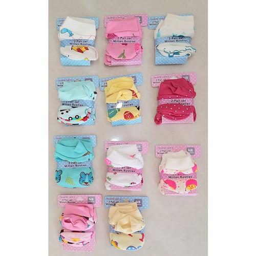 Foto Produk Mittenbooties Lovelle Cart's : Sarung tangan & Sarung kaki Bayi - Girl dari Lovelle Cart's