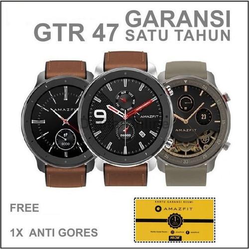 Foto Produk Xiaomi Amazfit GTR 47mm Smart Watch International - Garansi Resmi 1thn - Silver Stain dari Kardel Shop