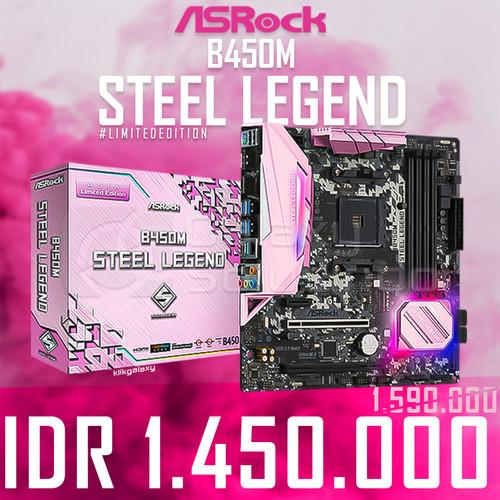 Foto Produk Asrock B450M Steel Legend (AM4, B450, DDR4) Motherboard - Pink Edition dari GASOL
