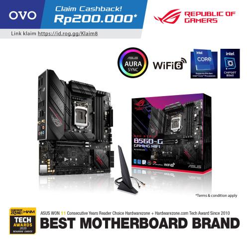 Foto Produk ASUS ROG STRIX B560-G GAMING WIFI - Intel Motherboard LGA1200 dari J&J online