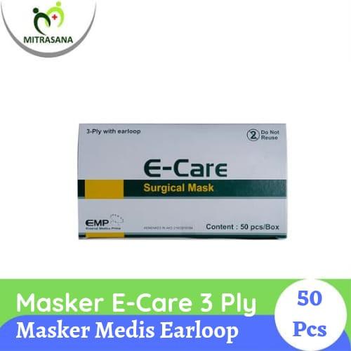 Foto Produk Masker E-Care 3-Ply Ear Loop Isi 50pcs dari Mitrasana Cikarang
