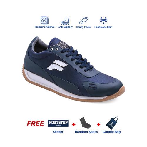 Foto Produk Sepatu Pria Sneakers Signature Footstep Footwear - Fusion V2 Navy - 41 dari Footstep Footwear