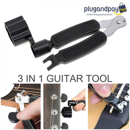 Foto Produk Guitar Tools String Winder + Bridge Pins Puller + String Cutter dari plugandpay