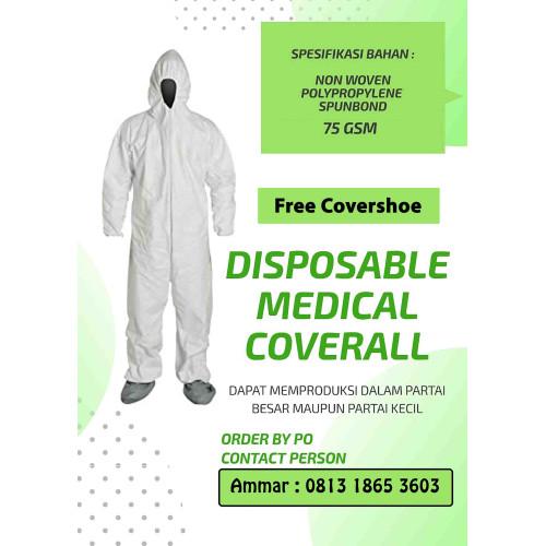 Foto Produk Disposable Medical Coverall / Baju APD sekali pakai / Hazmat dari MARVEE