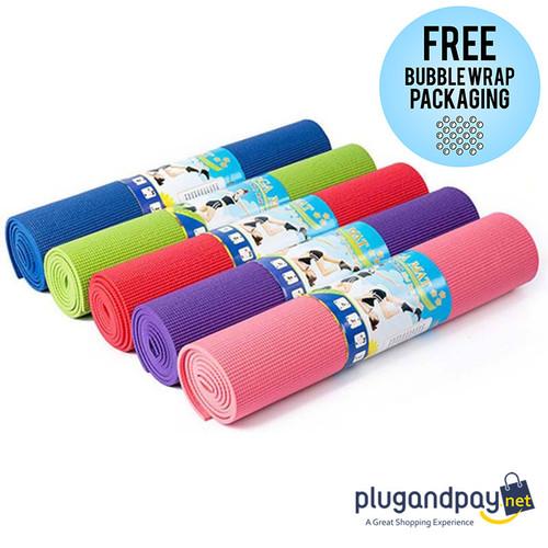 Foto Produk Karpet Alas Senam Pilates Yoga Mat Karet PVC Sintetis - plugandpay dari plugandpay