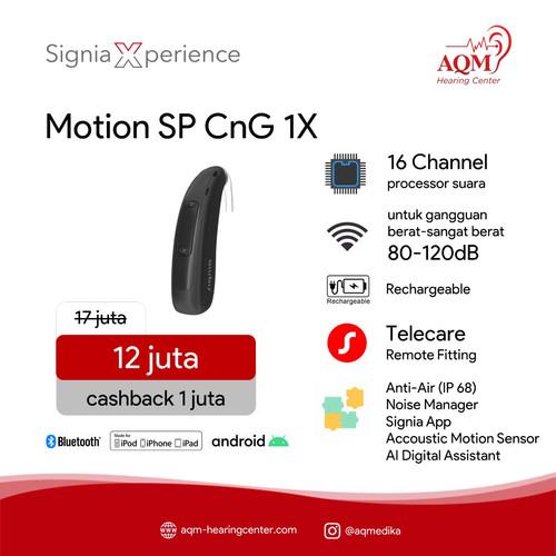 Foto Produk Alat Bantu Dengar Signia Motion SP CnG 1X dari AQM Serpong BSD Tangerang