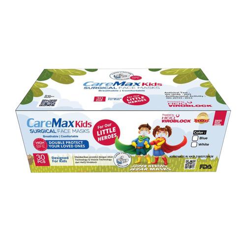 Foto Produk Masker Anak CareMax KIDS HEIQ Viroblock Surgical Face Masks 3 Layers dari Little Big Store