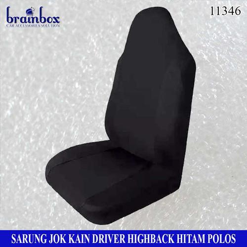 Foto Produk Sarung Jok Kursi Mobil Highback Hitam Cover Jok Bungkus Jok Pelindung - Hitam Polos dari Brainbox Car and Home