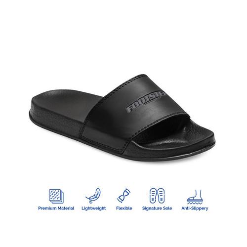 Foto Produk Sandal Slide Pria Footstep Footwear - Jarvis Black Grey - Abu-abu, 39 dari Footstep Footwear