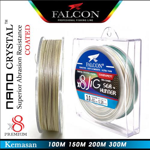 Foto Produk Senar Pe X8 Falcon Sea Hunter JIG Nano Crystal Coated 100M sd 300M - Pe 0.8, 100M dari Falcon Indoesia