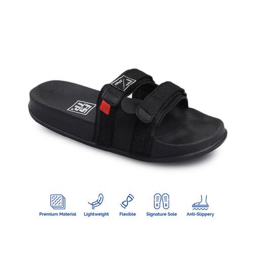 Foto Produk Sandal Pria Slide Footstep Footwear - Uno Black - 44 dari Footstep Footwear