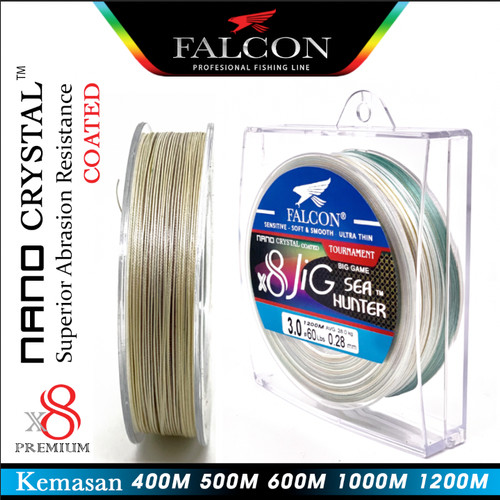 Foto Produk Senar Pe X8 Falcon Sea Hunter JIG Nano Crystal Coated 400M sd 1000M - Pe 3.0, 600M dari Falcon Indoesia