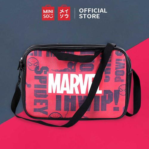 Foto Produk MINISO Marvel Tas Selempang Crossbody Shoulder Bag/ Fashion Sekolah - Merah dari Miniso Indonesia