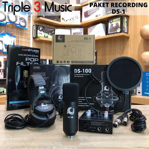 Foto Produk Paket recording dolphin sound ds1 bundle with mic dan Headphone dari triple3music