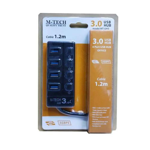 Foto Produk USB M-TECH ON OFF HUB KABEL 3.0 1.2M HUB USB 4 PORT 3.0 dari PojokITcom Pusat IT Comp