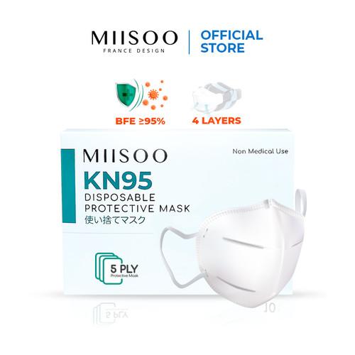 Foto Produk MIISOO Disposable Masker Wajah N95 KN95 1BOX Masker Kesehatan 5ply - KN95 1 BOX dari Miisoo Official Shop