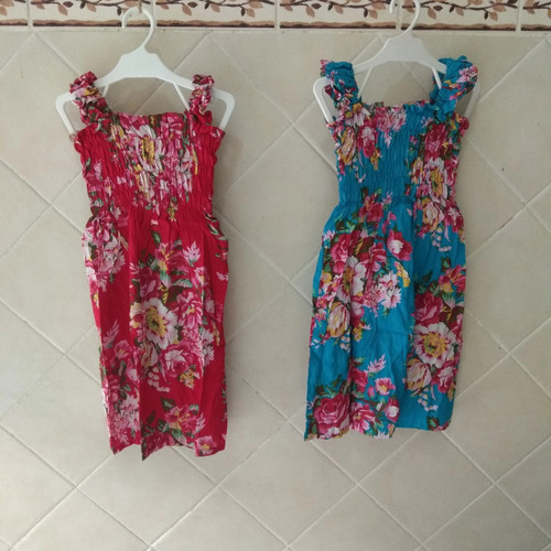Foto Produk sovenir bali baju Anak dress karet rayon bunga khas bali size L dari Me & Mom - Jimbaran-Bali