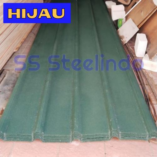 Foto Produk ATAP SPANDEK PASIR WARNA CUSTOM (BIRU HIJAU COKLAT) 0,35 MM STD - Hijau dari SS Steelindo