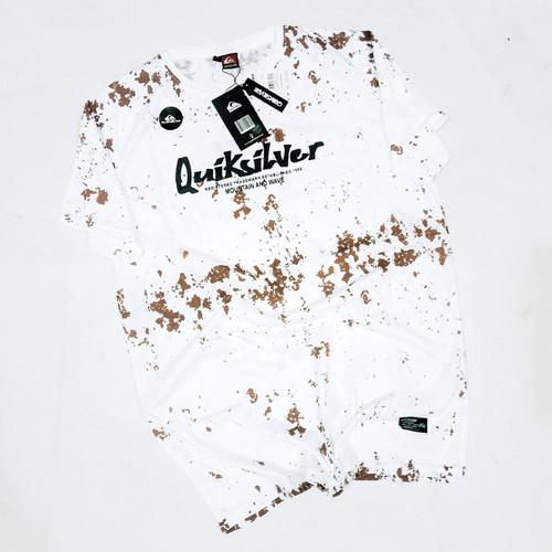 Foto Produk SF35 baju Kaos Distro quiksilver surfing fullprint premium ukuran L XL - Putih, L dari SD_COLLECTION
