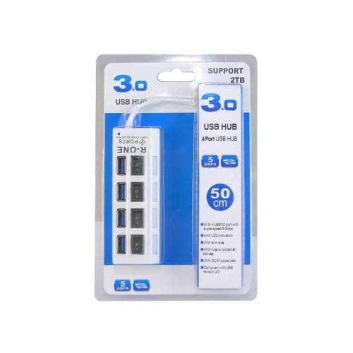 Foto Produk USB HUB - USB 3.0 HUB 4 port R-ONE with Switch dari PojokITcom Pusat IT Comp