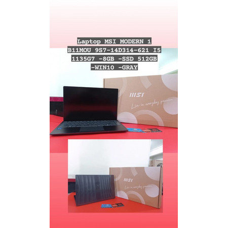 Foto Produk Laptop MSI MODERN 1 B11MOU 9S7-14D334-621 I5 1135G7 -8GB -SSD 512GB dari ArinGoComputer