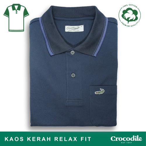 Foto Produk Crocodile COLE Midnight Blue - Baju Kaos Kerah Pria Men Polo Original - S dari Crocodile Official Store
