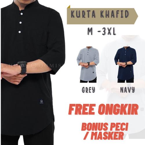 Foto Produk Baju Kaos Koko Kurta Pakistan Pria Ikhwan Muslim Simple Polos - M dari Alman Storee