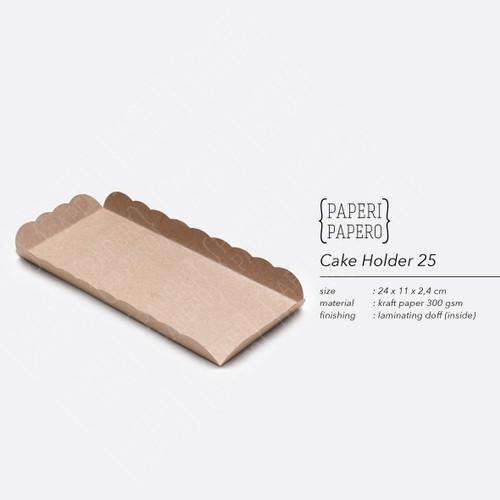 Foto Produk Cake Holder (24x11x11 cm) - Tatakan Alas Partisi Kue Roll Brownies 25 dari Paperi Papero