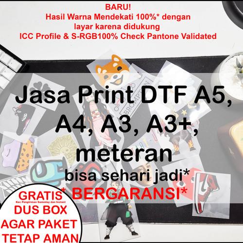 Foto Produk Jasa Print DTF A5, A4, dan A3 - Custom Per Cm dari Uniqewah