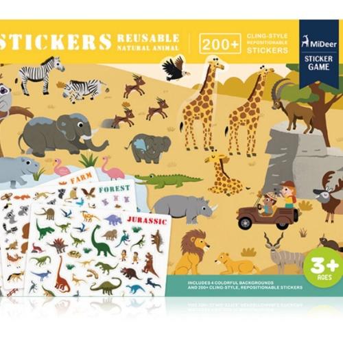 Foto Produk Mideer mainan edukasi anak reuseable sticker animal dari Mybentoshop