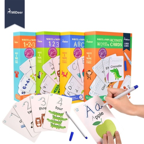 Foto Produk Mideer Write and Wipe Tracing Writing Numbers Alphabet Mainan Edukasi - Box Orange dari My Own Flashcards