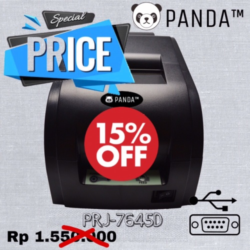Foto Produk 76mm Dotmatrix POS Printer PANDA PRJ-POS7645 (USB+Serial) dari PANDA RETAIL SOLUTIONS
